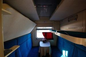Купейный вагон поезда Москва-Таллин