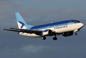 Рейсы эстонских авиалиний