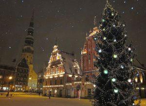 Празднование Нового года и Рождества в Риге