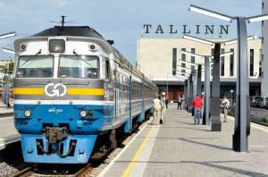 Маршрут поезда Москва-Таллин