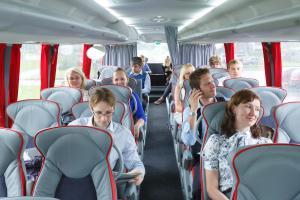В салоне автобуса Москва-Рига
