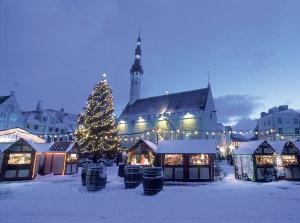 Таллин в зимнее время