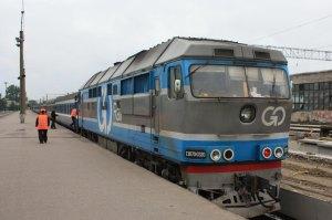 Поезд с маршрутом Таллин-Москва
