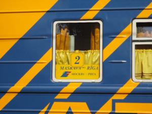 Поезд из Москвы в Ригу