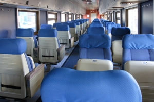 Сидячий вагон поезда Москва-Таллин