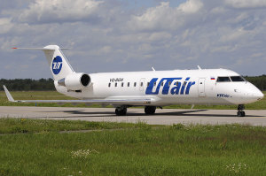 Самолет авиакомпании ЮТэйр